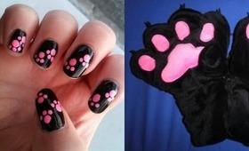 NAV   Animal Paw Print Nail Dotting Tutorial