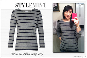 My new Stylemint tee, the Berlin in header grey/navy!
