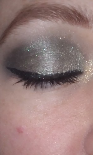 ANOTHER SHOT OF THE SMOKE GREEN EYE, JUST EXCUSE THE CRAZY EYEBROW! LOL