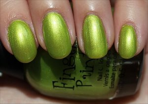 See more swatches & my review here: http://www.swatchandlearn.com/fingerpaints-guggen-im-lime-swatches-review/