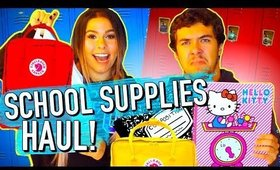 Back to School Supplies Haul 2017! Shopping challenge sis vs bro!