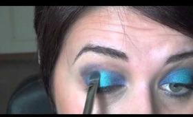 Super blue eye makeup!