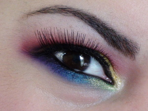 A rainbow look I did for a friend :)