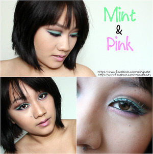 I have been loving these two colors together!!! I have a tutorial up so check it out!