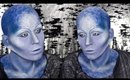 Alien Priestess from Farscape: Zotoh Zhaan Makeup Tutorial by goldiestarling