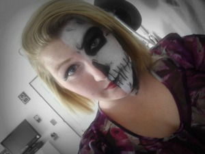 Another half and half project~ I used Snazaroo face paint