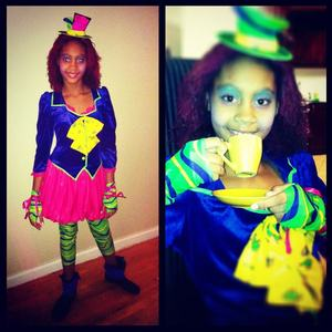 my daughter the mad hatter :) 9 years old (2011)