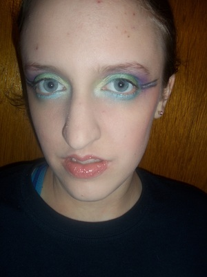 xSparkage's Green & Purple Inglot look on my Sister