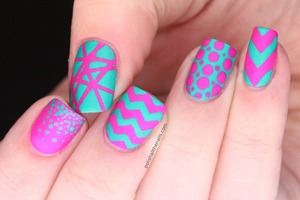 What could be better than turquoise and fuchsia together? With all the different patterns? And matte?  
