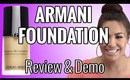 Armani Foundation Luminous Silk Review & Tutorial