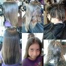 Shampoo thermal on  kids hair she has beautiful hair