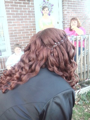 I styled my friends hair for a military ball.
