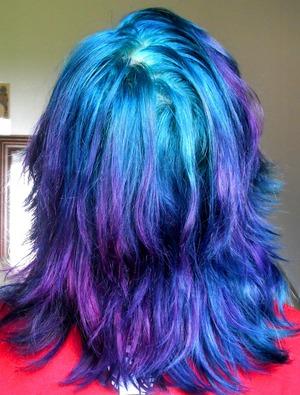July 2012 Hair Punky Colour Atlantic Blue + Flamingo Pink