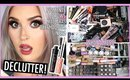 Brows, Mascaras, Liners, Pigments & More! 🔪 ORGANIZE AND DECLUTTER MY MAKEUP COLLECTION 2018! 😏