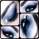 navy blue smoky eye