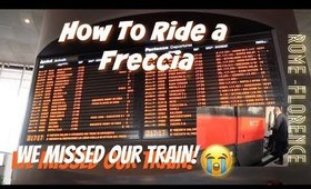 TRAVEL DIARIES | RIDING A FRECCIA | SOMEONE TOOK OUR SEATS
