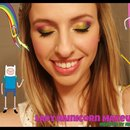 Adventure Time's Lady Rainicorn Makeup