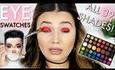 James Charles x Morphe EYE Swatches! ALL 39 SHADES!! Live Swatches