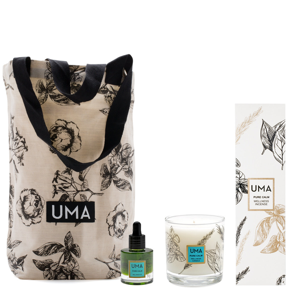 Uma Pure Calm Wellness Set product smear.