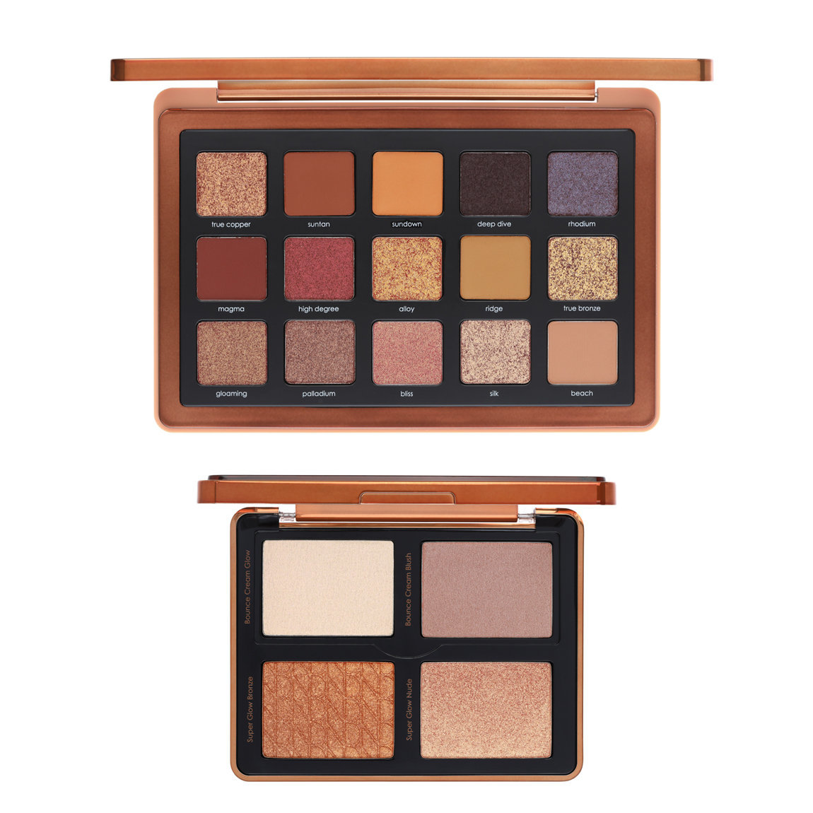 Natasha Denona Bronze Palette + Bronze Cheek Face Glow Palette Bundle alternative view 1 - product swatch.