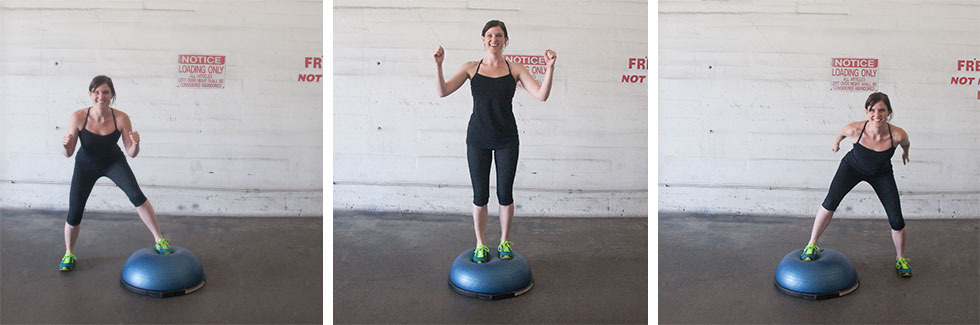 Six Minutes Three Exercises Bosu Ball Routine Part 1