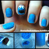 Flocking Powder Nail Art Kit Review and Cookie Monster Nail Art