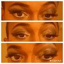 Smokey Eye w/a touch of Gold