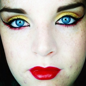 This is a look based around the comic book character, The Dark Phoenix. It is for a collab over on my Youtube channel with the members of the Beauty Youtubers Facebook group.