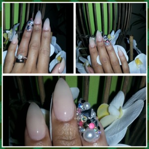 Opi bubble bath, junk nails  classy and girly