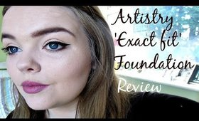 Artistry Exact Fit Long Lasting Foundation Review| NiamhDillonMakeup
