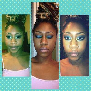 BH Cosmetics eyeshadow MAC Honeylove lipstick  MAC Snob lipgloss Loc Extensions