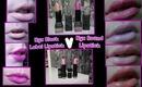Nyx♥ Black label lipstick v Round lipstick ♥ Comparison ♥ Review