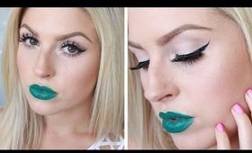 Shaaanxo ♡ Bright Grey Eyes & Dark Green Lips! ♡ Melt Blow