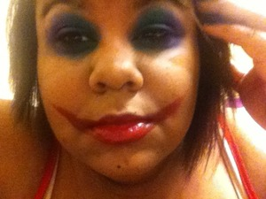 I used my bh cosmetics pallet and some random red lipstick i got from hot topic