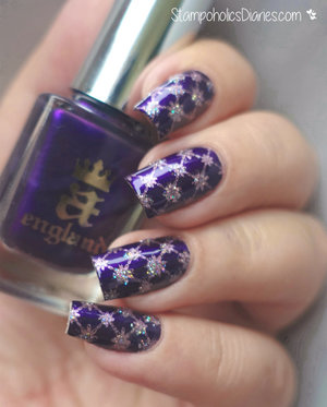 http://stampoholicsdiaries.com/2015/09/24/purple-glitter-nails-with-a-england-knocked-up-nails-kiko-and-born-pretty/