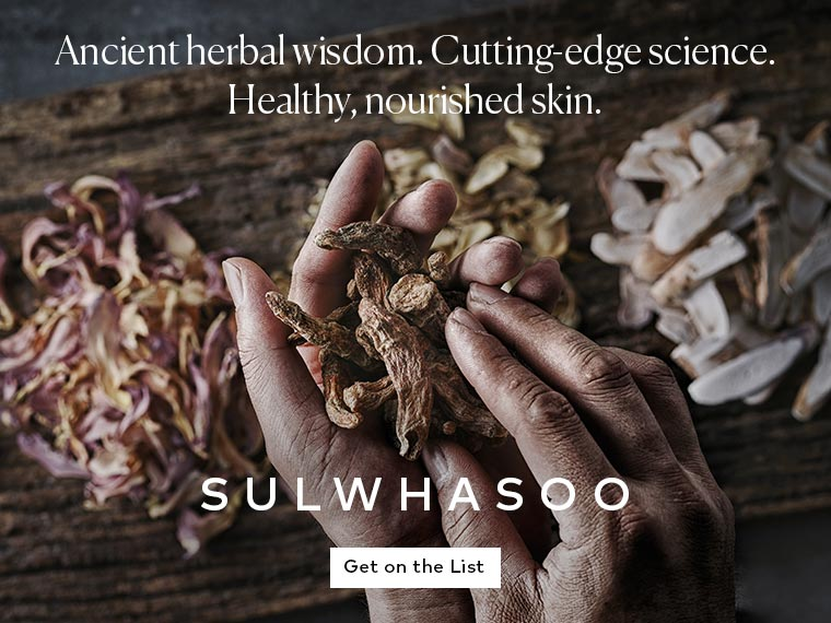 Sulwhasoo skin care is coming soon. Get on the list to be notified.