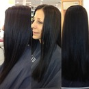 Color & Long Layer Haircut