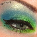 Lime and Blue Makeup