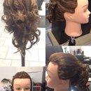 Curly braid updo