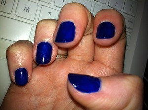 Royal...nails for the day :)