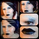 Silver Glitter Brows And Black Lips