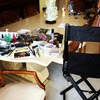 My station after a shoot! MESSY!