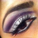 Purple and Silver cut crease