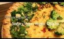 Savory Vegan Veggie Quiche -- #WhatVegansEat | maricelinwonder.com