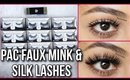 PAC FAUX MINK & SILK LASHES TRY-ON AND LASH FIXER REVIEW | Stacey Castanha
