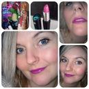Bold purple lip :)