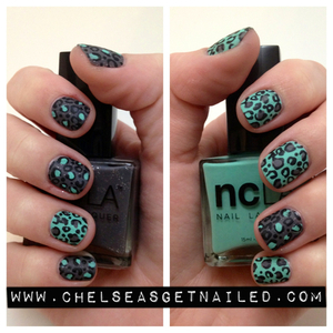 What I Used: -NCLA Rock Solid -NCLA Santa Monica Shore Thing -Julep Matte Top Coat