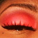 Orange Red Eyeshadow