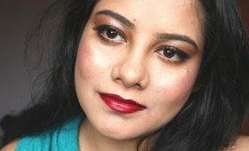 fall makeup \ bold lips