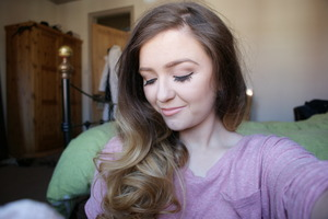 Hair after using heated rollers. I have a video, so check it out :)